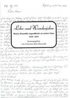 Christine Dr. Belz-Hensoldt: Lehr-und Wanderjahre
