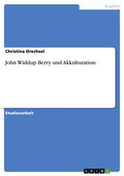 John Widdup Berry und Akkulturation