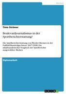 Timo Strömer: Boulevardjournalismus in der Sportberichterstattung?