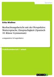 Beobachtungsbericht mit der Perspektive Muttersprache, Einsprachigkeit (Spanisch 10. Klasse Gymnasium) - comparativo/ el superlativo