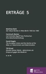 Erträge - Schriftenreihe der Bibliothek des Konservatismus, Band 5