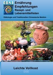 Ernährung - Leichte Vollkost - DIÄTETIK - Ernährung - Leichte Vollkost