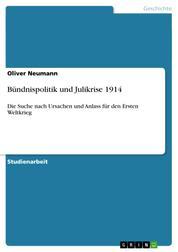 Bündnispolitik und Julikrise 1914 - Die Suche nach Ursachen und Anlass für den Ersten Weltkrieg