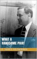 F. Scott Fitzgerald: What a Handsome Pair!