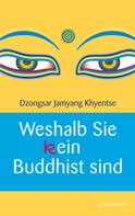 Dzongsar Jamyang Khyentse: Weshalb Sie (k)ein Buddhist sind