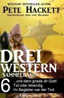 Pete Hackett: Pete Hackett - Drei Western, Sammelband 6