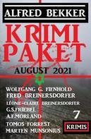 Alfred Bekker: Krimi Paket August 2021: 7 Krimis