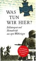 Frank Schumann: Was tun wir hier? ★★★★