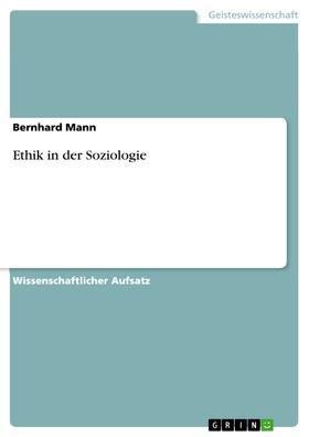 Ethik in der Soziologie
