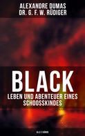 Alexandre Dumas: Black: Leben und Abenteuer eines Schoosskindes (Alle 3 Bände)
