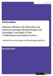 Inklusives Wohnen für Menschen mit schweren geistigen Behinderungen auf Grundlage von Artikel 19 der UN-Behindertenrechtskonvention - Strukturelle Voraussetzungen und Handlungsperspektiven