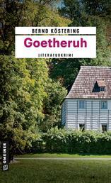 Goetheruh - Kriminalroman