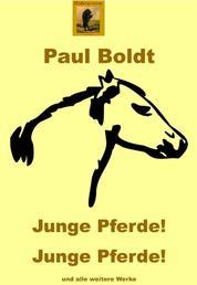 Junge Pferde! Junge Pferde! - Expressionistische Gedichte