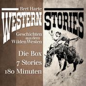 Western Stories: Geschichten aus dem Wilden Westen - Die Box - Das Idyll von Red Gulch, In der Todeswüste von Arizona, Der Glücksbringer von Roaring Camp, Miggles, Die Ausgestoßenen von Roaring Camp u.v.m.