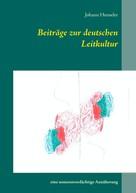 Johann Henseler: Beiträge zur deutschen Leitkultur