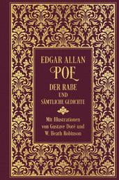 Der Rabe und sämtliche Gedichte - Leinen mit Goldprägung