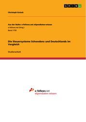 Die Steuersysteme Schwedens und Deutschlands im Vergleich