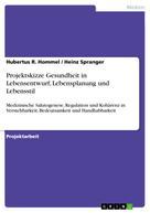 Hubertus R. Hommel: Projektskizze Gesundheit in Lebensentwurf, Lebensplanung und Lebensstil