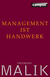 Management ist Handwerk