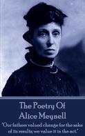 Alice Meynell: Alice Meynell, The Poetry Of
