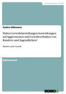 Saskia Höhmann: Haben Gewaltdarstellungen Auswirkungen auf Aggressionen und Gewaltverhalten von Kindern und Jugendlichen?