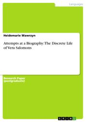 Attempts at a Biography: The Discrete Life of Vera Salomons