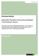 Christiane Wittich: Kulturelle Pluralität in international tätigen Unternehmen nutzen