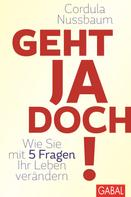 Cordula Nussbaum: Geht ja doch! ★★★★