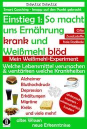 Einstieg 1: So macht Ernährung uns krank und Weißmehl blöd: Welche Lebensmittel verursachen und verstärken welche Krankheiten? - Chemikalien, gefährliche E-Stoffe, krebserregende Gifte in Lebensmitteln: Ein Warn-Ratgeber