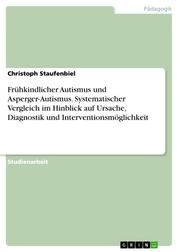 Frühkindlicher Autismus und Asperger-Autismus. Systematischer Vergleich im Hinblick auf Ursache, Diagnostik und Interventionsmöglichkeit
