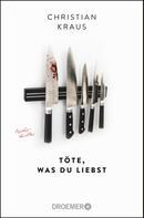 Christian Krauß: Töte, was du liebst ★★★★