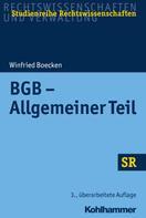 Winfried Boecken: BGB - Allgemeiner Teil